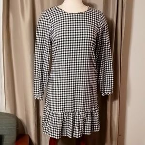 J. Crew black & white check dress Size XS